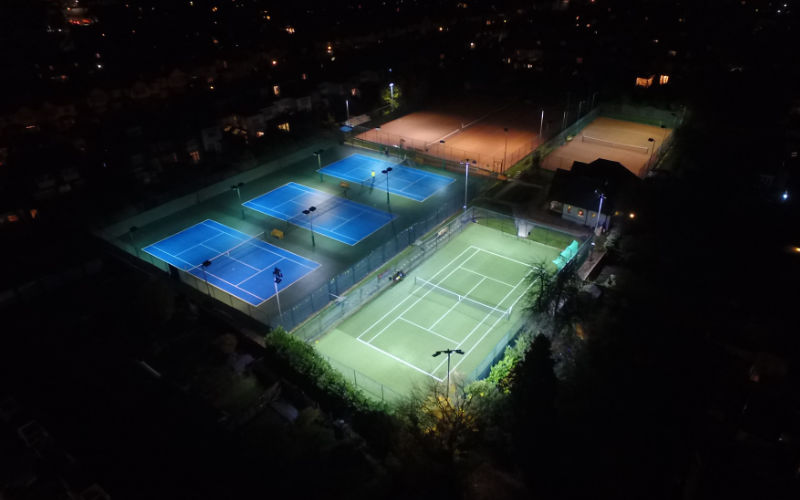 500 LUX LED Tennis Court at Wigmore LTC