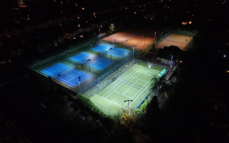 500 LUX LED Tennis Court at Wigmore LTC