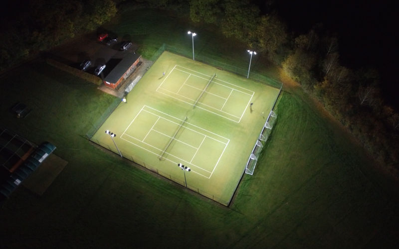 New LED Floodlighting at Moreton-In-Marsh LTC