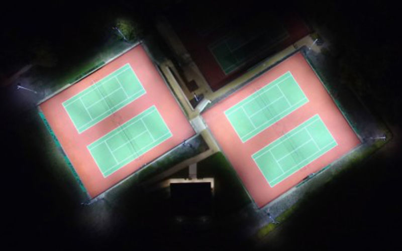 Six LED Tennis Courts at Wantage LTC